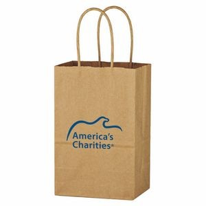 Kraft Paper Brown Shopping Bag - 5-1/4